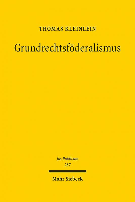 Cover-Bild Grundrechtsföderalismus