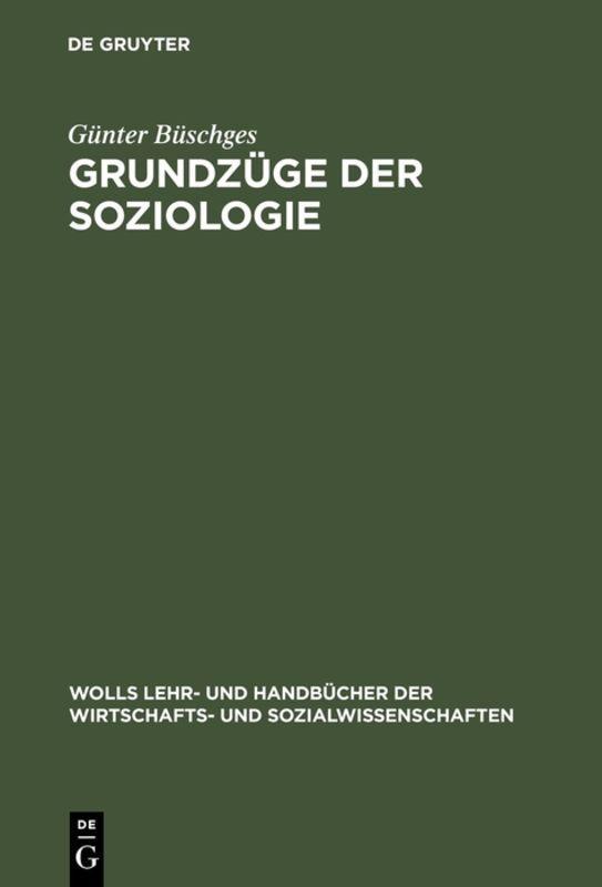 Cover-Bild Grundzüge der Soziologie