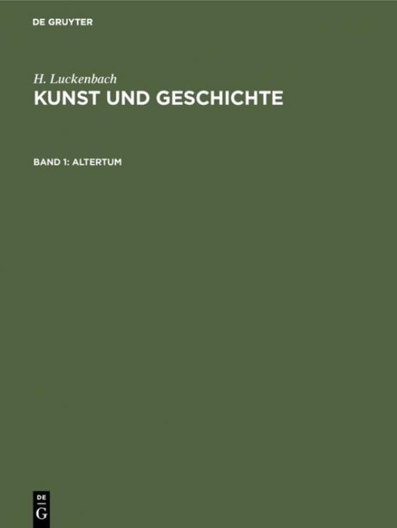 Cover-Bild H. Luckenbach: Kunst und Geschichte / Altertum