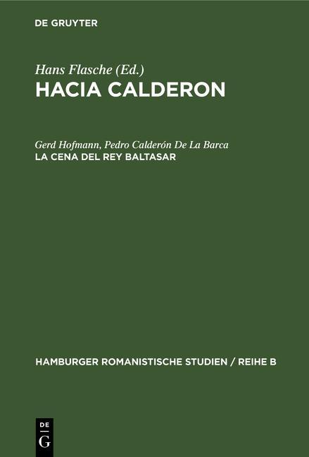 Cover-Bild Hacia Calderon / La cena del Rey Baltasar