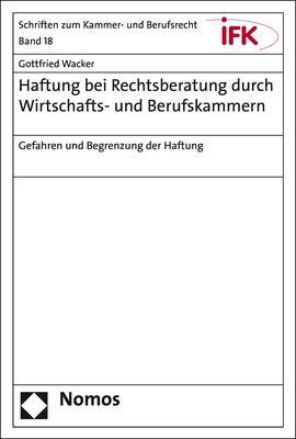 Cover-Bild Haftung bei Rechtsberatung durch Wirtschafts- und Berufskammern
