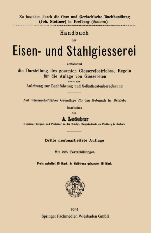 Cover-Bild Handbuch der Eisen-und Stahlgiesserei
