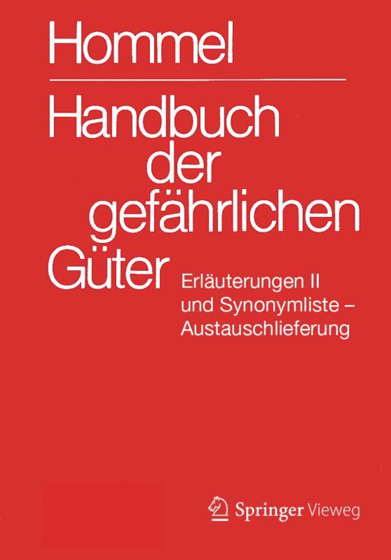Cover-Bild Handbuch der gefährlichen Güter. Erläuterungen II. Austauschlieferung, Dezember 2019