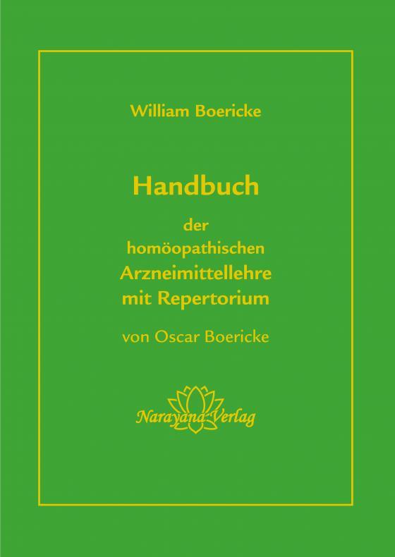Cover-Bild Handbuch der homöopathischen Arzneimittellehre mit Repertorium
