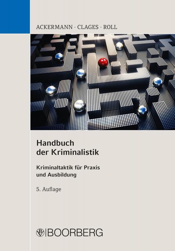 Cover-Bild Handbuch der Kriminalistik