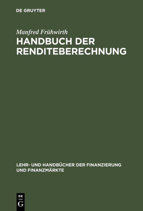 Cover-Bild Handbuch der Renditeberechnung