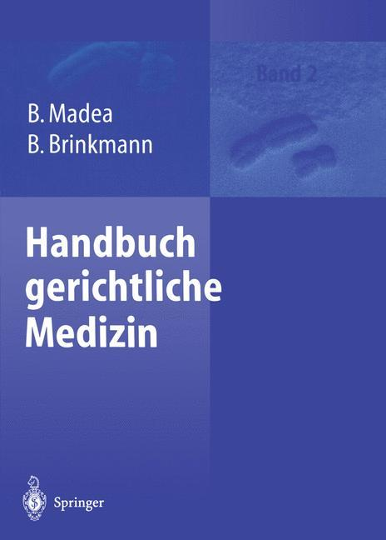 Cover-Bild Handbuch gerichtliche Medizin