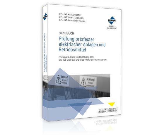 Cover-Bild Handbuch Prüfung ortsfester elektrischer Anlagen und Betriebsmittel
