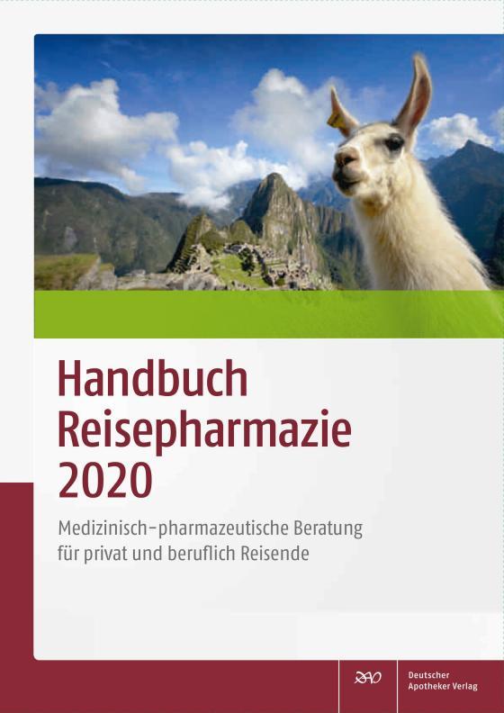 Cover-Bild Handbuch Reisepharmazie 2020