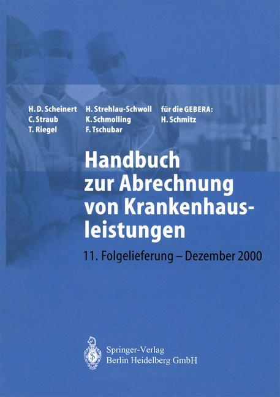 Cover-Bild Handbuch zur Abrechnung von Krankenhausleistungen