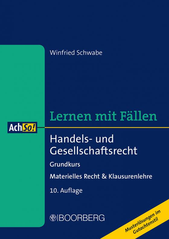 Cover-Bild Handels- und Gesellschaftsrecht