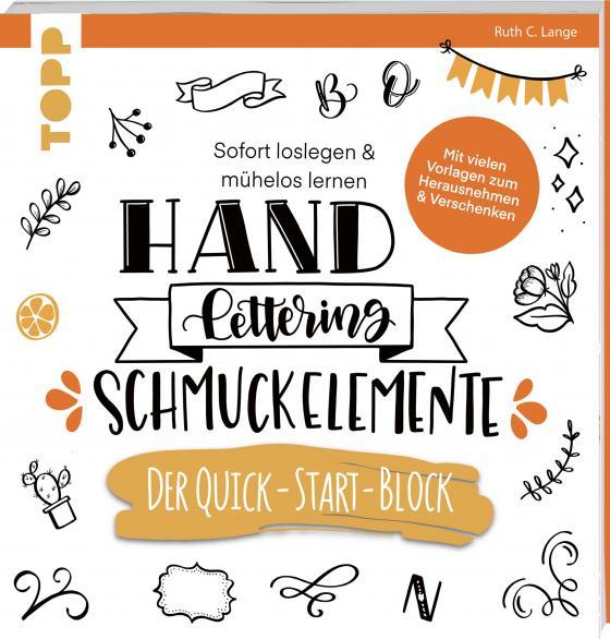 Cover-Bild Handlettering Schmuckelemente. Der Quick-Start-Block