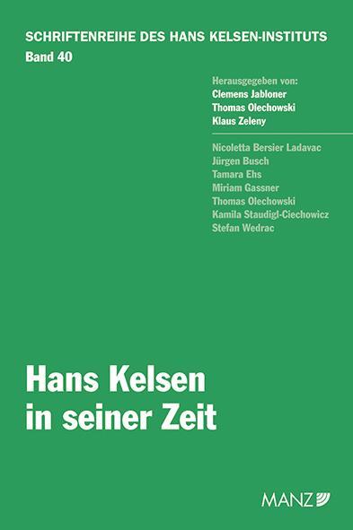 Cover-Bild Hans Kelsen in seiner Zeit