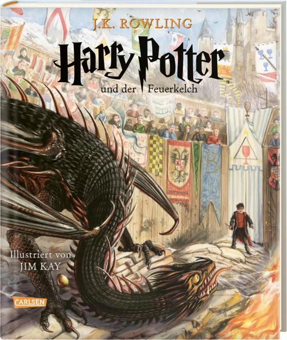 Cover-Bild Harry Potter und der Feuerkelch (farbig illustrierte Schmuckausgabe) (Harry Potter 4)