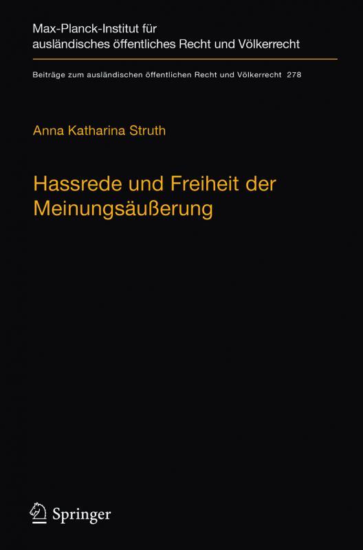 Cover-Bild Hassrede und Freiheit der Meinungsäußerung