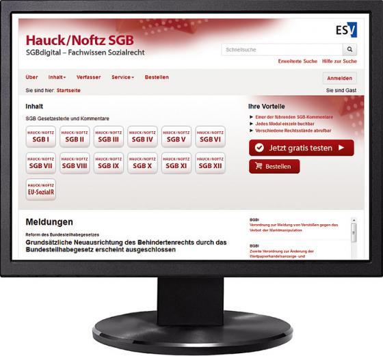 Cover-Bild HAUCK/NOFTZ Modul SGB V: Gesetzliche Krankenversicherung - Jahresabonnement bei Kombibezug Print und Datenbank