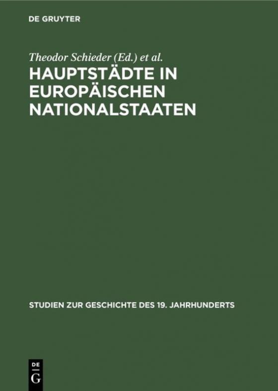 Cover-Bild Hauptstädte in europäischen Nationalstaaten