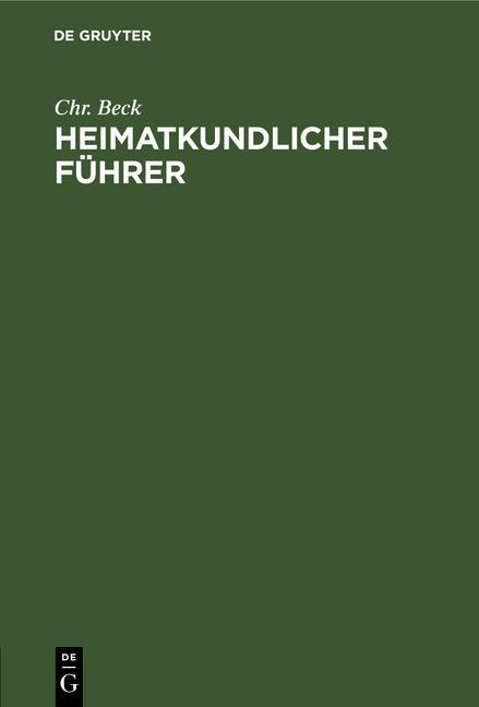 Cover-Bild Heimatkundlicher Führer