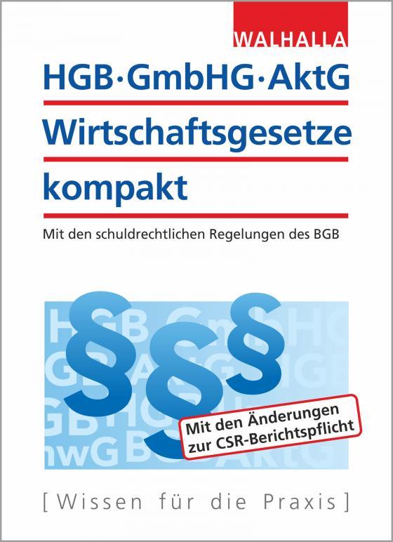Cover-Bild HGB, GmbHG, AktG, Wirtschaftsgesetze kompakt 2018/2019