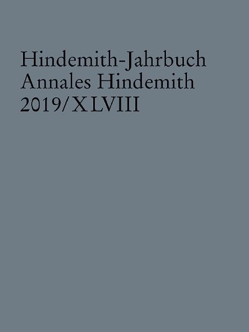 Cover-Bild Hindemith-Jahrbuch