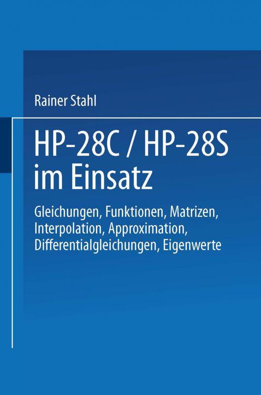 Cover-Bild HP-28C / HP-28S im Einsatz