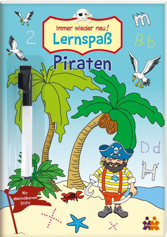 Cover-Bild Immer wieder neu - Piraten. Lernspaß mit abwischbarem Stift