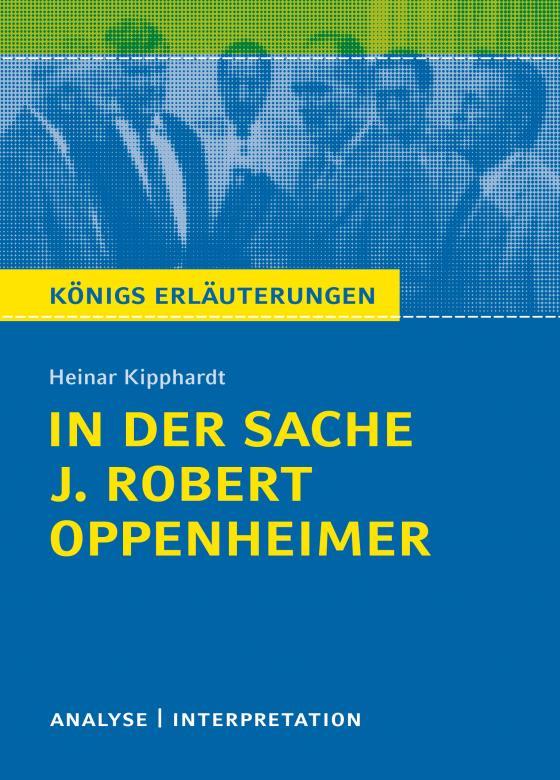 Cover-Bild In der Sache J. Robert Oppenheimer von Heinar Kipphardt