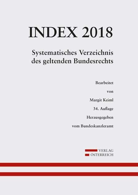 Cover-Bild Index Bundesrecht 2018