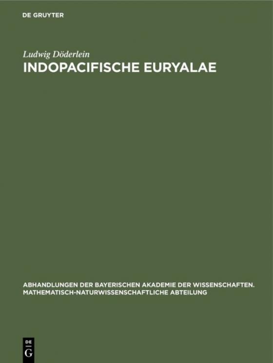 Cover-Bild Indopacifische Euryalae
