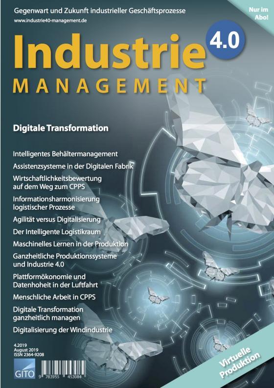 Cover-Bild Industrie 4.0 Management 4/2019 E-Journal