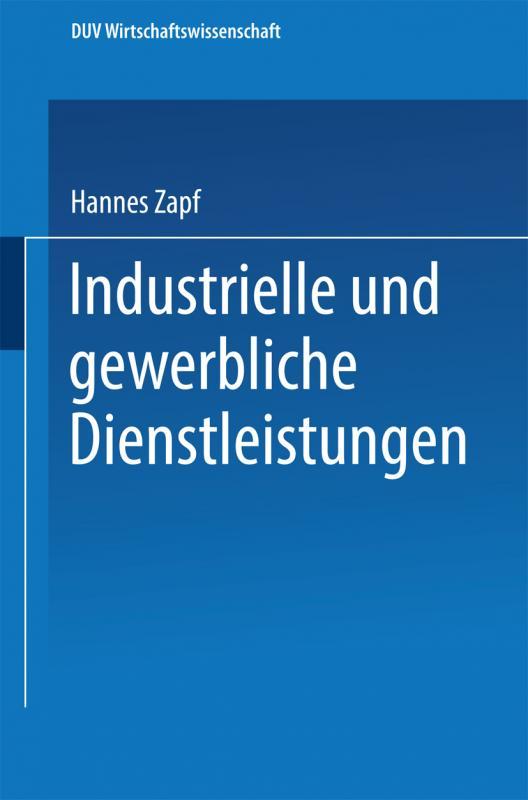 Cover-Bild Industrielle und gewerbliche Dienstleistungen