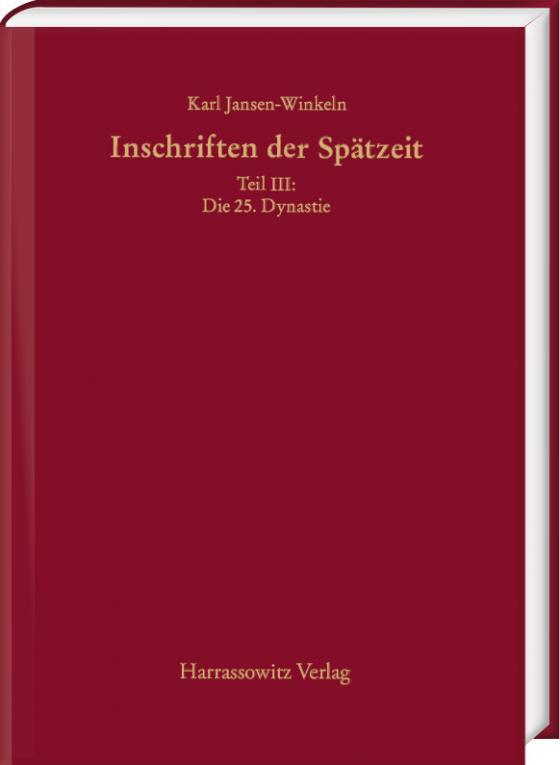 Cover-Bild Inschriften der Spätzeit