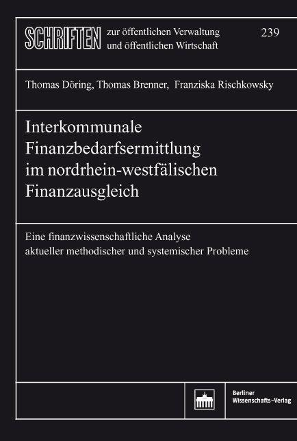 Cover-Bild Interkommunale Finanzbedarfsermittlung im nordrhein-westfälischen Finanzausgleich