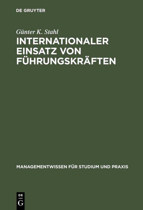 Cover-Bild Internationaler Einsatz von Führungskräften