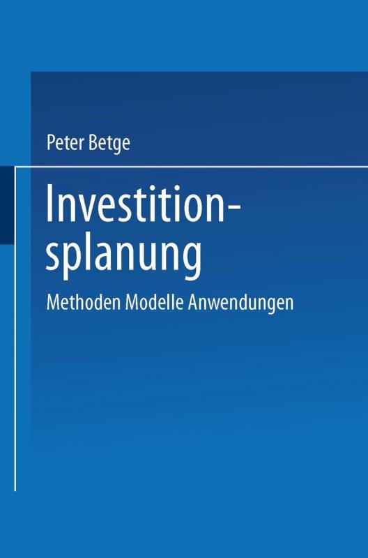 Cover-Bild Investitionsplanung