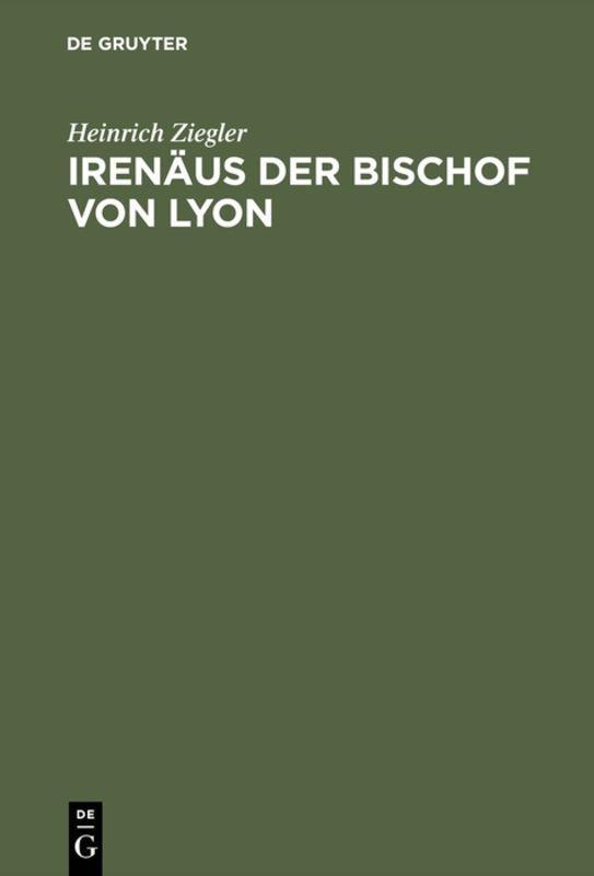Cover-Bild Irenäus der Bischof von Lyon