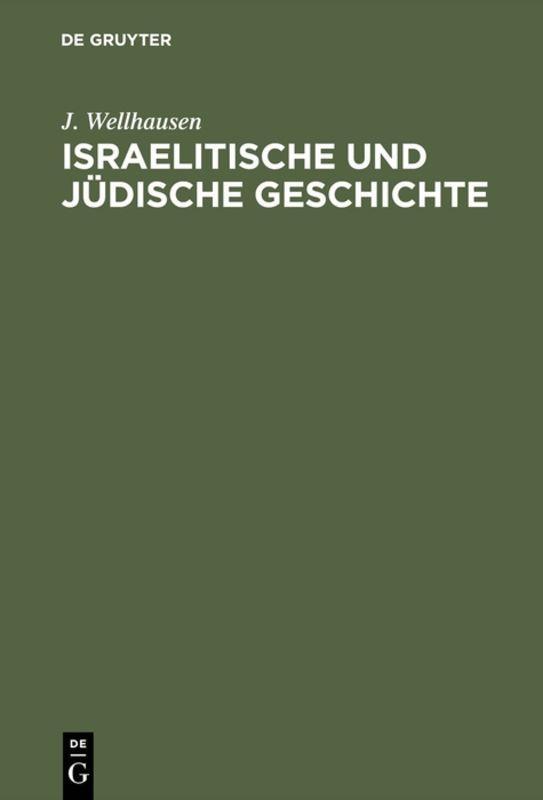 Cover-Bild Israelitische und jüdische Geschichte