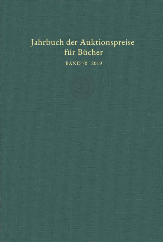 Cover-Bild Jahrbuch der Auktionspreise für Bücher, Handschriften und Autographen