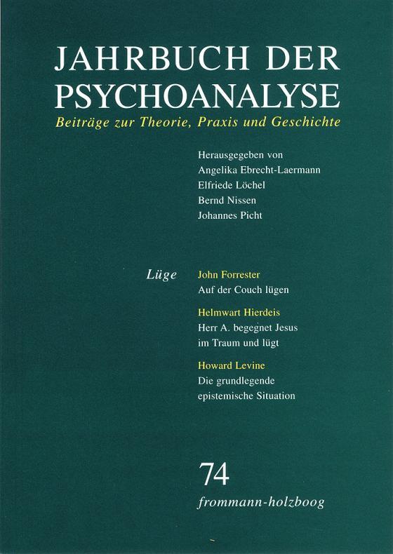 Cover-Bild Jahrbuch der Psychoanalyse / Band 74: Lüge