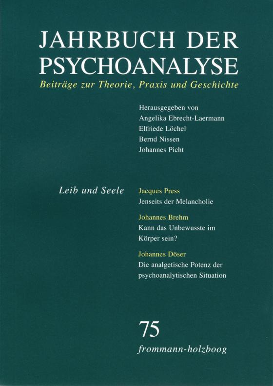 Cover-Bild Jahrbuch der Psychoanalyse / Band 75: Leib und Seele