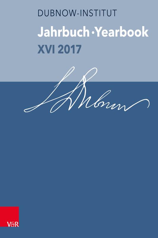 Cover-Bild Jahrbuch des Simon-Dubnow-Instituts /Simon Dubnow Institute Yearbook / Jahrbuch des Simon-Dubnow-Instituts / Simon Dubnow Institute Yearbook XVI/2017