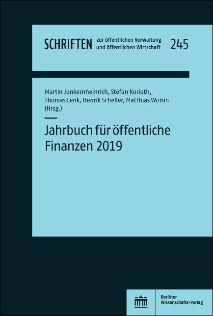 Cover-Bild Jahrbuch für öffentliche Finanzen 2019
