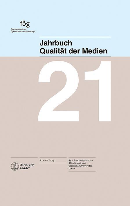 Cover-Bild Jahrbuch Qualität der Medien 2021