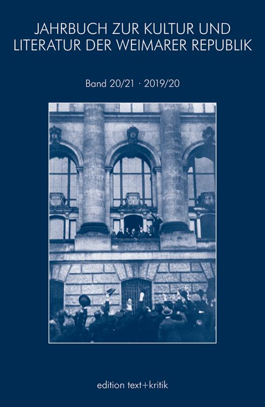 Cover-Bild JAHRBUCH ZUR KULTUR UND LITERATUR DER WEIMARER REPUBLIK