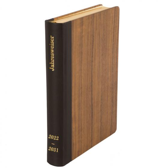 """Cover-Bild Jahresweiser 2022-2031 """"Der Hölzerne"""" Nussbaum dunkel"""