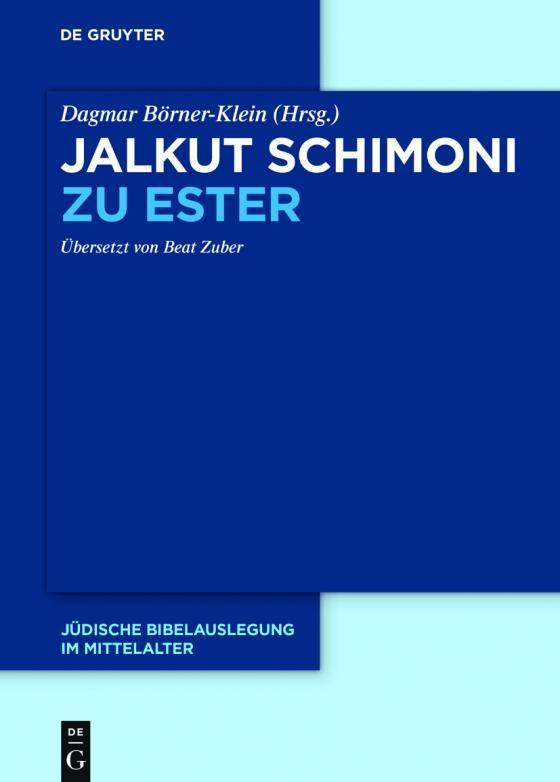 Cover-Bild Jalkut Schimoni / Jalkut Schimoni zu Ester