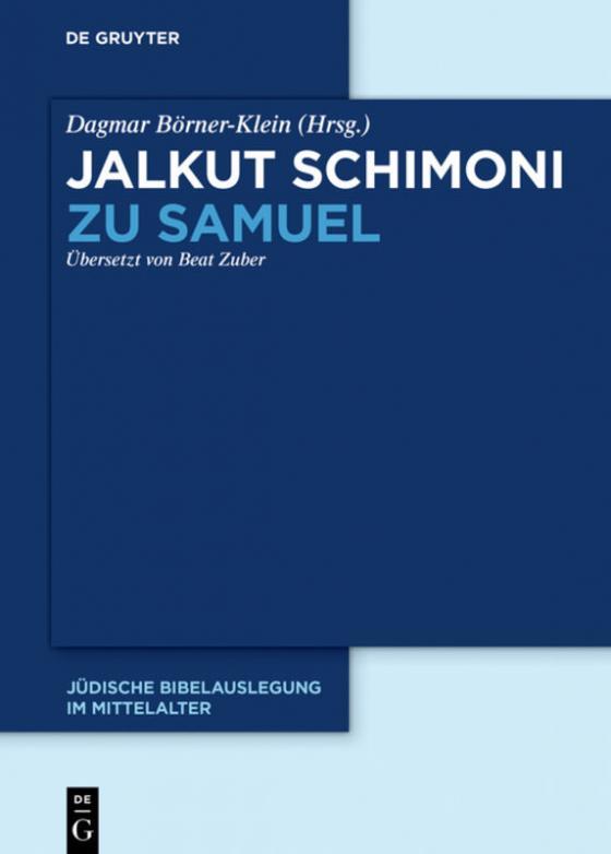 Cover-Bild Jalkut Schimoni / Jalkut Schimoni zu Samuel