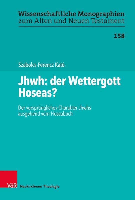 Cover-Bild Jhwh: der Wettergott Hoseas?