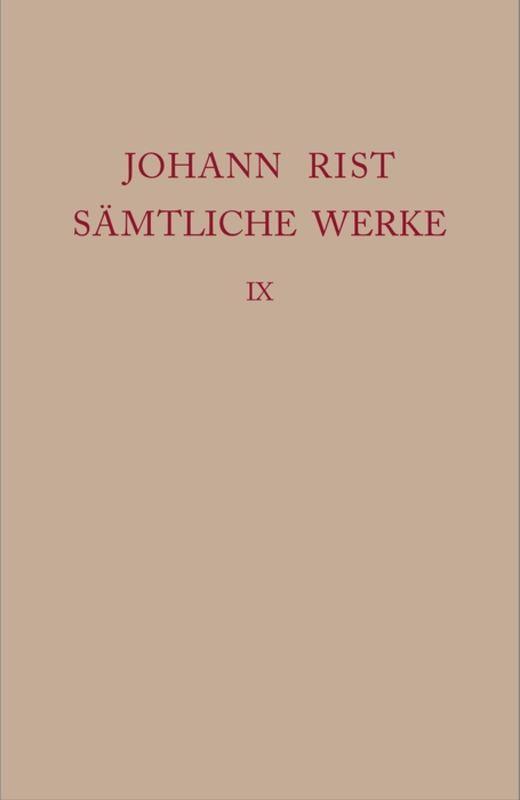 Cover-Bild Johann Rist: Sämtliche Werke / Dichtungen 1647–1648