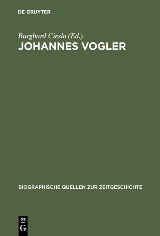 Cover-Bild Johannes Vogler